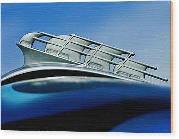 1946 Plymouth Hood Ornament Wood Print by Jill Reger