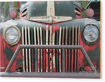 Wood Print featuring the photograph 1946 Vintage Ford Truck by Fiona Kennard