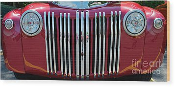 1947 Ford Truck Grill Wood Print by Mark Dodd