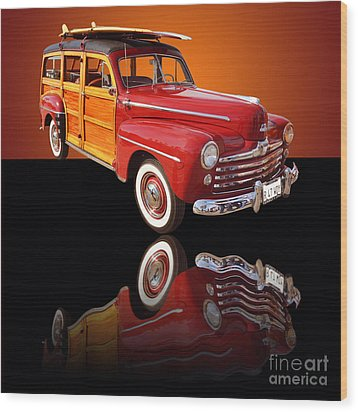 1947 Ford Woody Wood Print by Jim Carrell