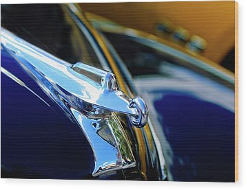 1947 Packard Hood Ornament 4 Wood Print by Jill Reger