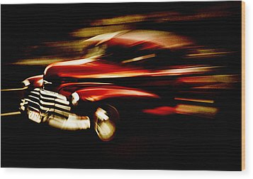 1947 Red Chevrolet Wood Print by Phil 'motography' Clark