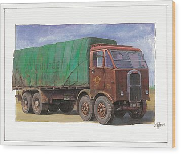 1947 Scammell R8 Wood Print by Mike  Jeffries