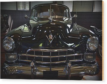 1948 Cadillac Front Wood Print by Michelle Calkins