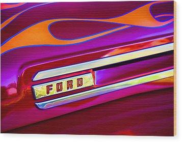 1948 Ford Pickup Wood Print by Carol Leigh