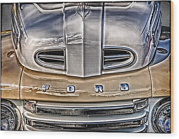 Wood Print featuring the digital art 1948 Ford Pickup by Richard Farrington