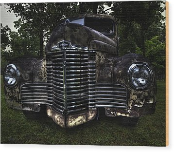 1948 International Truck Wood Print by Thomas Young