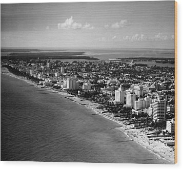 1948 Miami Beach Florida Wood Print by Retro Images Archive
