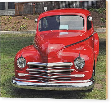 1948 Plymouth Coupe Wood Print by AJ  Schibig