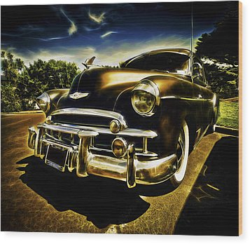 1949 Chevrolet Deluxe Coupe Wood Print by motography aka Phil Clark