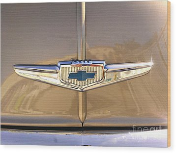 1949 Chevy Symbol  Wood Print by Andres LaBrada