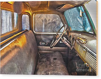 1949 Chevy Truck Cab Wood Print by D Wallace