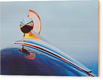 1949 Ford Hood Ornament 2 Wood Print by Jill Reger
