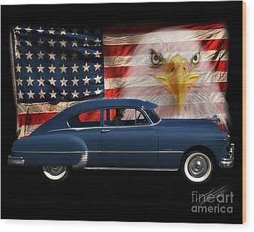 Wood Print featuring the photograph 1949 Pontiac Tribute Roger by Peter Piatt