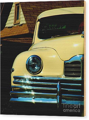 Wood Print featuring the photograph 1950 Yellow Packard by Janette Boyd