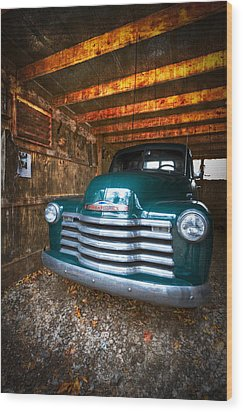 1950 Chevy Truck Wood Print by Debra and Dave Vanderlaan