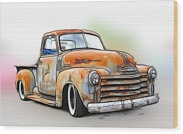 1950 Chevy Truck Wood Print