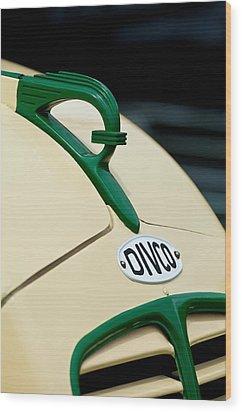 1950 Divco Milk Truck Hood Ornament Wood Print by Jill Reger