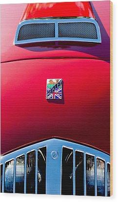 1950 Healey Silverston Sports Roadster Emblem Wood Print by Jill Reger
