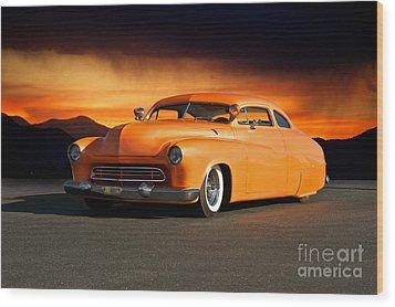 1950 Mercury 'boulevard Cruiser' Wood Print by Dave Koontz