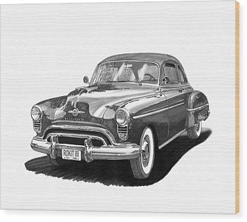 1950 Oldsmobile Rocket 88 Wood Print by Jack Pumphrey