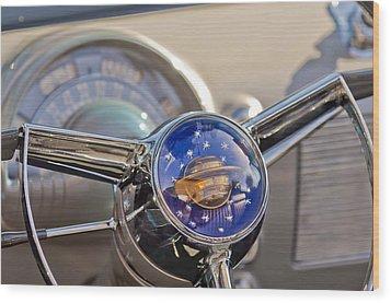 1950 Oldsmobile Rocket 88 Steering Wheel Wood Print by Jill Reger