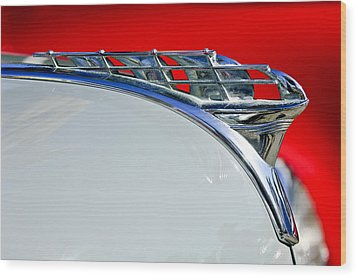 1950 Plymouth Hood Ornament 3 Wood Print by Jill Reger