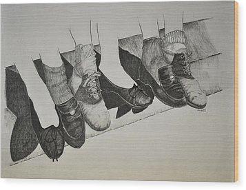 1950 Shoe Fad Wood Print by Glenn Calloway