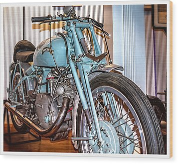 Wood Print featuring the photograph 1950 Vincent Tt Flash by Steve Benefiel