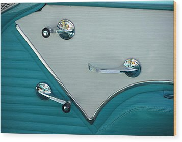 Wood Print featuring the photograph 1950's Chevy Interior by Dean Ferreira