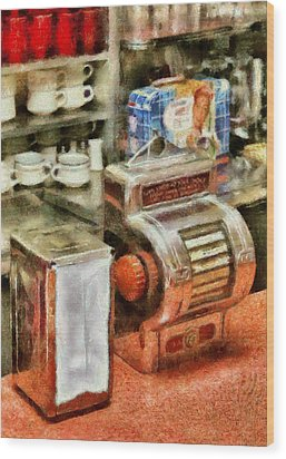 1950's - The Greasy Spoon Wood Print by Mike Savad