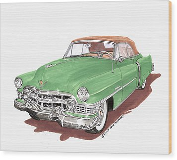 1951 Cadillac Series 62 Convertible Wood Print by Jack Pumphrey
