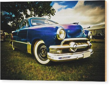 1951 Ford Custom Wood Print by Phil 'motography' Clark