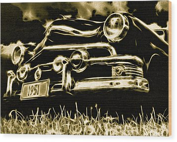 1951 Ford V8 Convertible Wood Print by Phil 'motography' Clark
