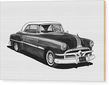 1951 Pontiac Hard Top Wood Print by Jack Pumphrey