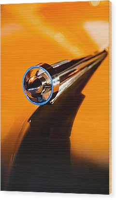 1951 Studebaker Pickup Truck Hood Ornament Wood Print by Jill Reger