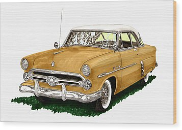 1952 Ford Victoria Wood Print by Jack Pumphrey