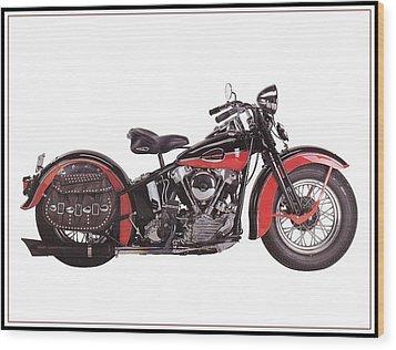 1952 Harley Davidson Wood Print