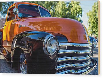 Wood Print featuring the photograph 1953 Chevrolet Pickup by Steve Benefiel