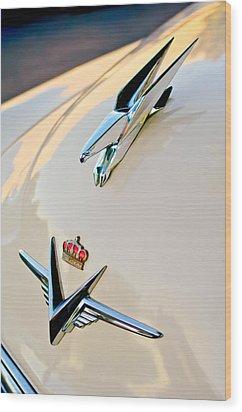 1953 Chrysler Imperial Custom Hood Ornament Wood Print by Jill Reger