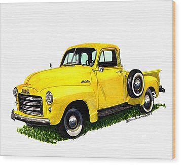1953 G M C 5-window Pick-up Wood Print by Jack Pumphrey