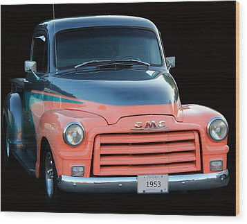 1953 Gmc Pick-up Wood Print by Davandra Cribbie