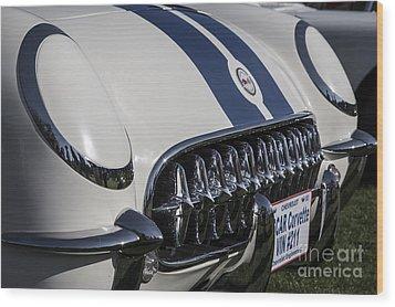1953 Nascar Corvette Wood Print by Dennis Hedberg