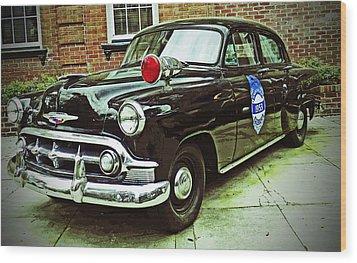 1953 Police Car Wood Print by Patricia Greer