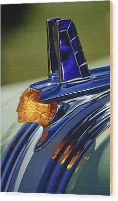 1953 Pontiac Hood Ornament 3 Wood Print by Jill Reger