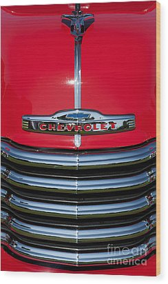 1953 Red Chevrolet 3100 Pickup Wood Print by Tim Gainey