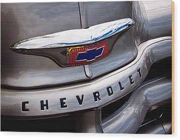 1954 Chevy Pickup 3100 Wood Print by David Patterson