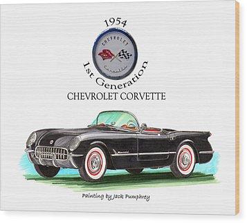 Corvette First Generation Wood Print by Jack Pumphrey