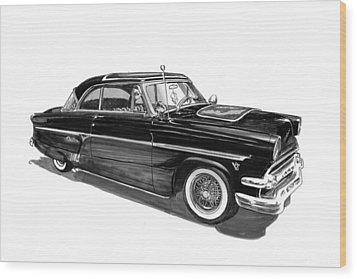 1954 Ford Skyliner Wood Print by Jack Pumphrey