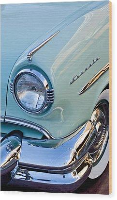 1954 Lincoln Capri Headlight Wood Print by Jill Reger